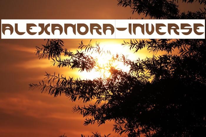 ALEXANDRA-INVERSE Font examples
