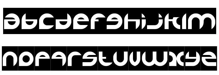 ALEXANDRA-INVERSE Font LOWERCASE