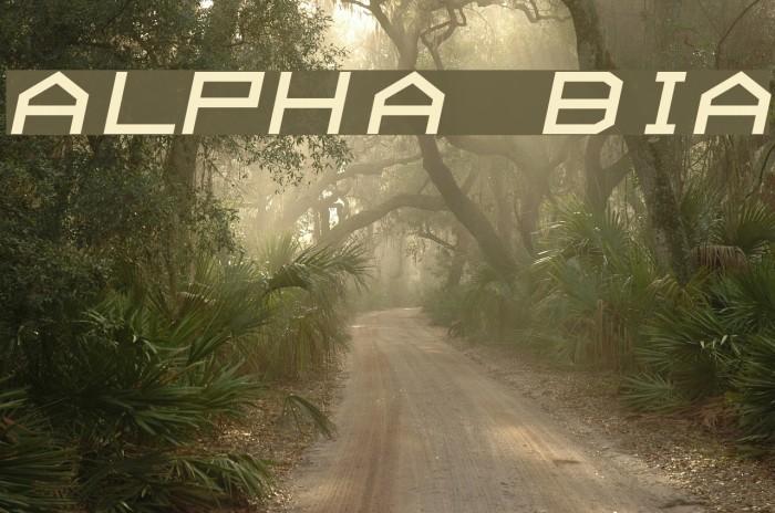 ALPHA  BoldItalic फ़ॉन्ट examples