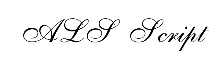 ALS Script  baixar fontes gratis