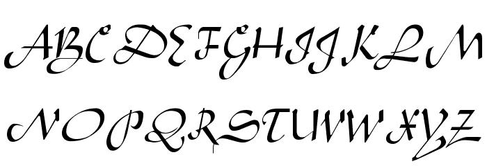 Aladdin Regular Font Litere mari