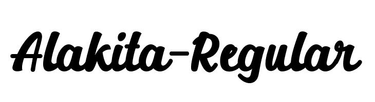 Alakita-Regular Font