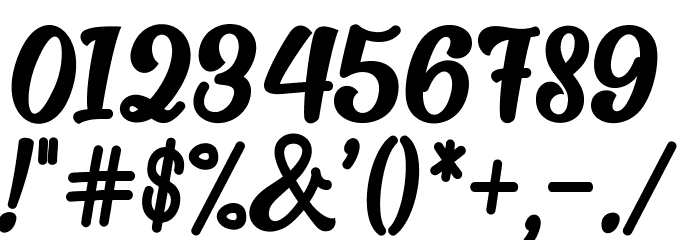 Alakita-Regular Font OTHER CHARS