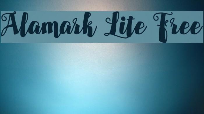 Alamark Lite Free Fonte examples