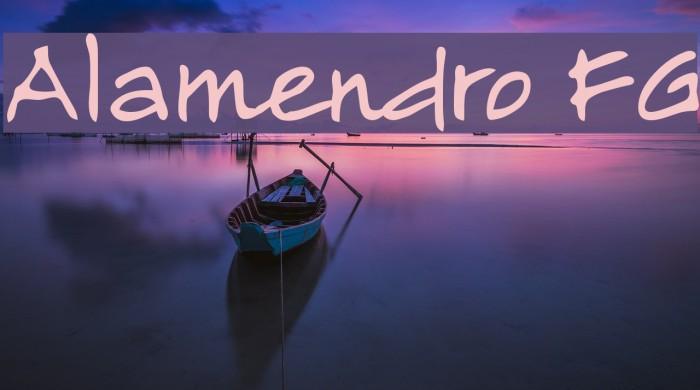 Alamendro FG Шрифта examples