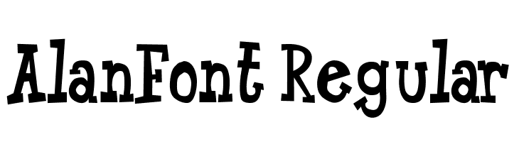 AlanFont-Regular  Free Fonts Download
