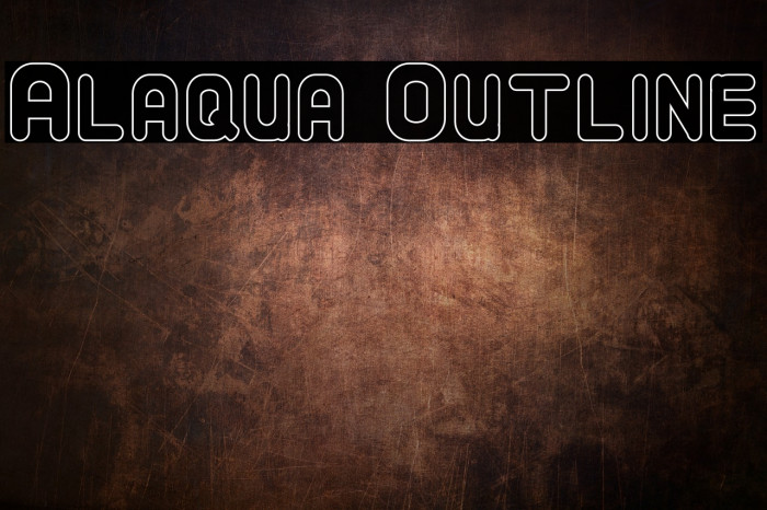 Alaqua Outline Font examples
