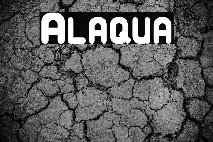 Alaqua फ़ॉन्ट examples