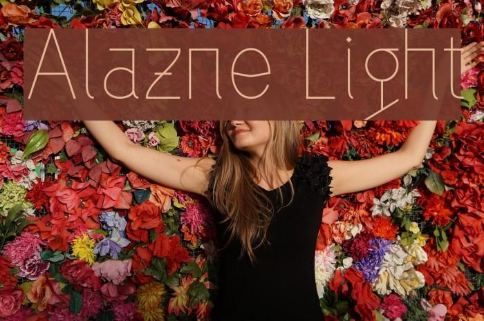 Alazne Light Fonte examples