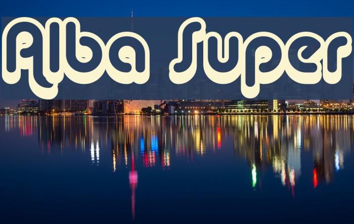 Alba Super Font examples