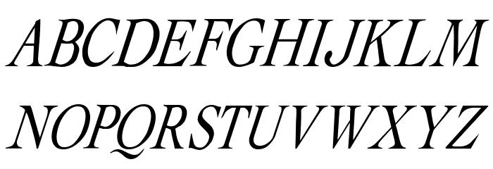 Albatross Italic फ़ॉन्ट अपरकेस