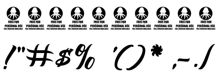 Albondigas フォント その他の文字