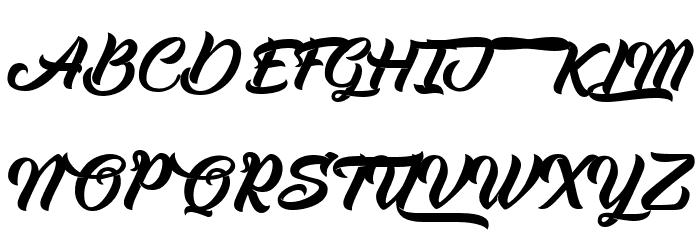 Albondigas フォント 大文字