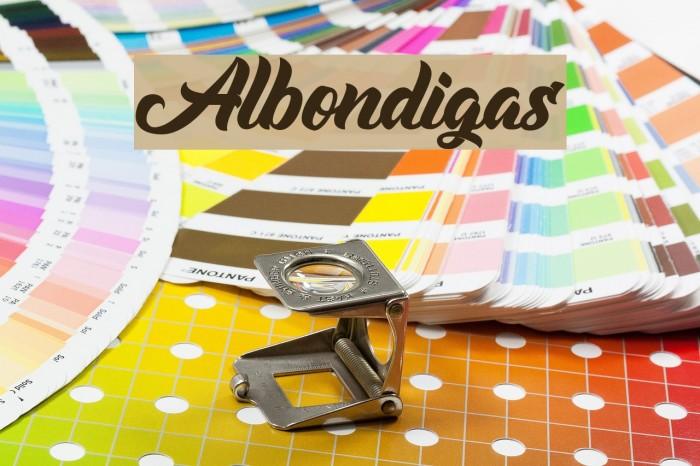 Albondigas フォント examples