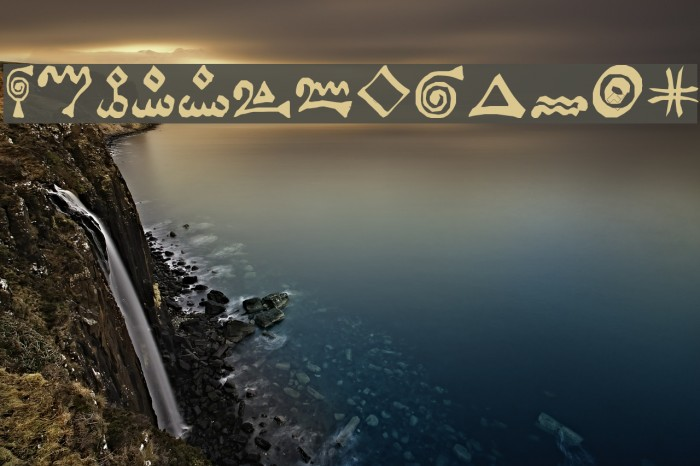 Alchemist Symbols फ़ॉन्ट examples