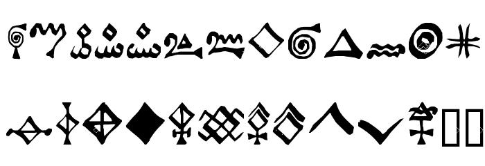 Alchemist Symbols फ़ॉन्ट लोअरकेस