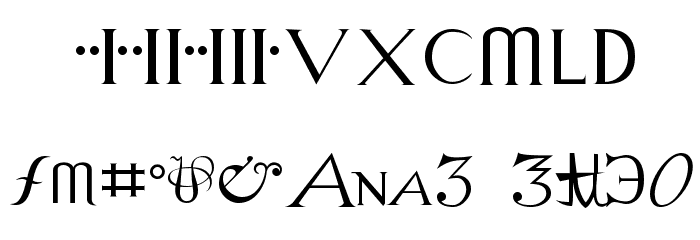 Alchemy Font OTHER CHARS
