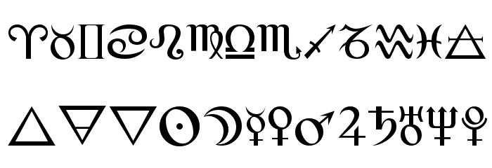 Alchemy Шрифта ВЕРХНИЙ
