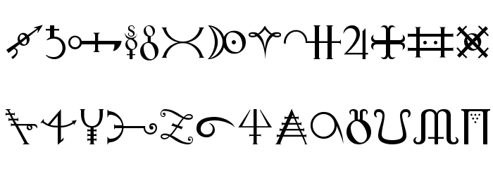 Alchemy Font LOWERCASE