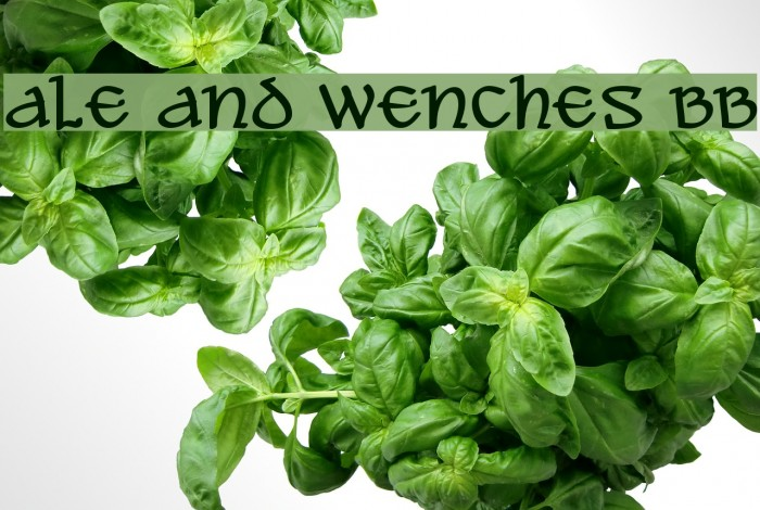 Ale and Wenches BB Font examples