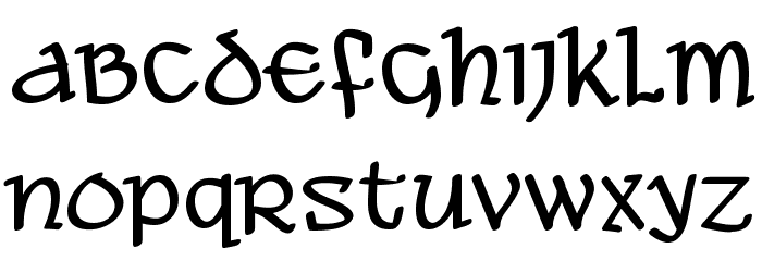 Ale and Wenches BB Font LOWERCASE