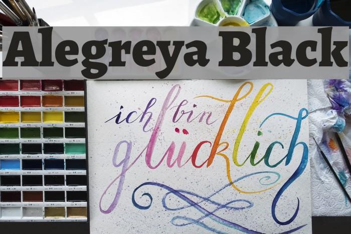 Alegreya Black Font examples