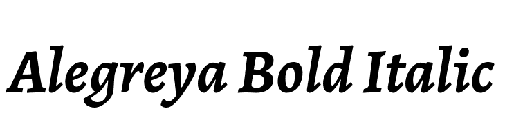 Alegreya Bold Italic  Free Fonts Download
