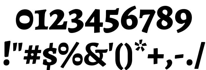 Alegreya ExtraBold Font OTHER CHARS
