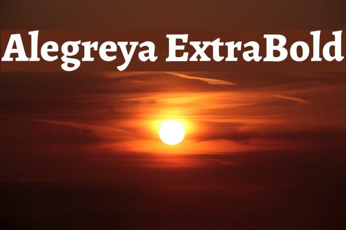 Alegreya ExtraBold Font examples