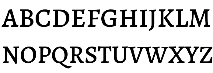 Alegreya Medium Font UPPERCASE
