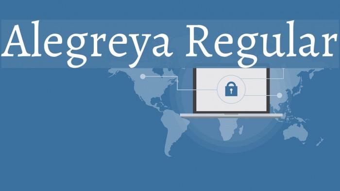 Alegreya Regular Font examples