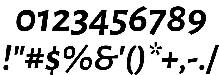 Alegreya Sans Bold Italic Font OTHER CHARS