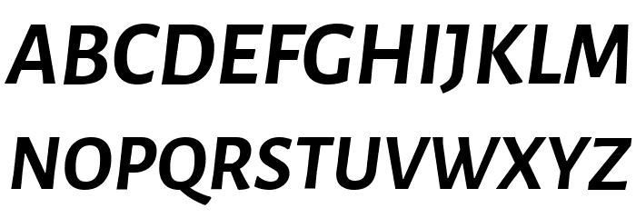 Alegreya Sans Bold Italic Font UPPERCASE