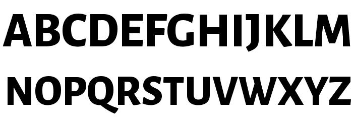 Alegreya Sans ExtraBold Font UPPERCASE