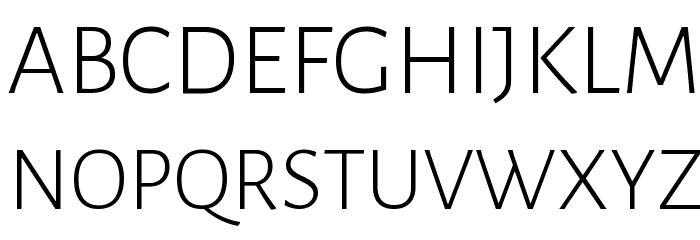 Alegreya Sans Light Font UPPERCASE