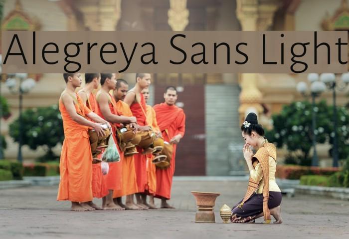 Alegreya Sans Light Font examples