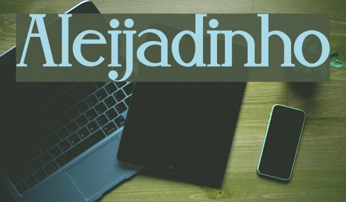 Aleijadinho फ़ॉन्ट examples