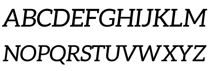 Aleo Italic Fonte MAIÚSCULAS