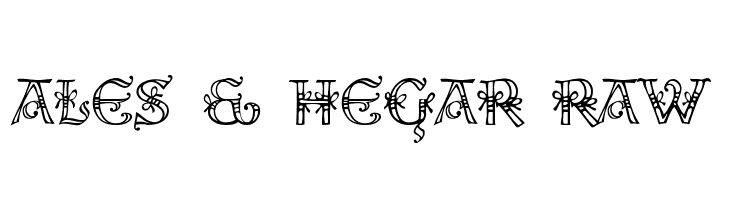 Ales & Hegar Raw  Free Fonts Download