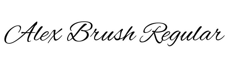Alex Brush Regular  Free Fonts Download