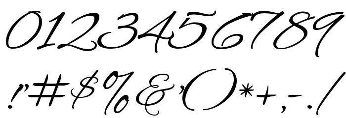 Alex Brush Regular Font OTHER CHARS