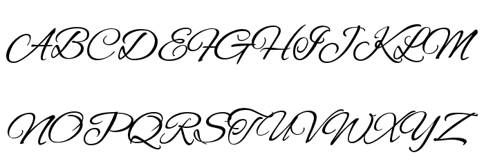 Alex Brush Regular Font UPPERCASE