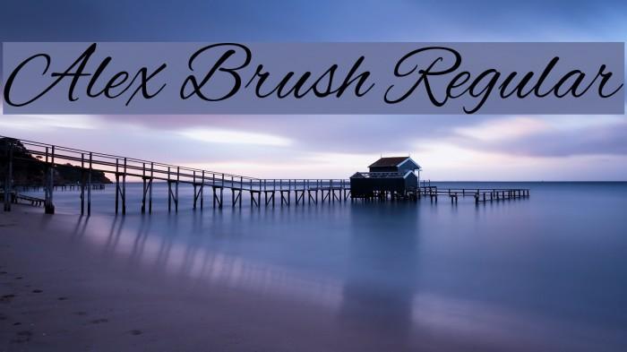 Alex Brush Regular Font examples