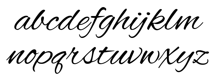 Alex Brush Regular Font LOWERCASE