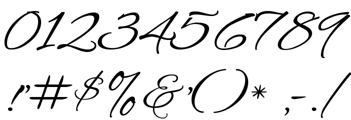 Alex Brush Font OTHER CHARS