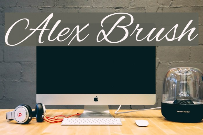 Alex Brush Font examples