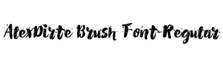 AlexDirte Brush Font-Regular  Скачать бесплатные шрифты