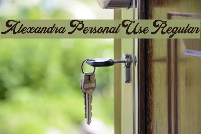 Alexandra Personal Use Regular Font examples