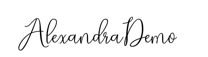 AlexandraDemo  Free Fonts Download