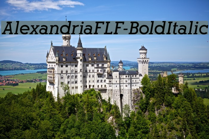 AlexandriaFLF-BoldItalic फ़ॉन्ट examples